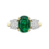 2.07 Carat Colombian Emerald & Diamond Ring