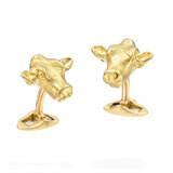 18k Gold Cow Head Cufflinks
