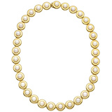 14k Yellow Gold & Pearl Link Necklace