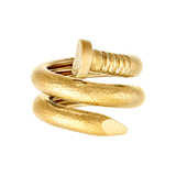 "Hammered 18k Yellow Gold ""Nail"" Ring"