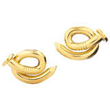 "Polished 18k Yellow Gold ""Bent Nail"" Earrings"