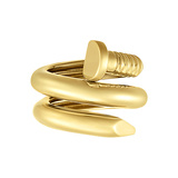 "Polished 18k Yellow Gold ""Nail"" Ring"