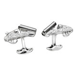 Silver Cocked Shotgun Cufflinks