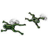 Silver Leaping Frog Cufflinks