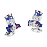 Silver Uncle Sam Cufflinks