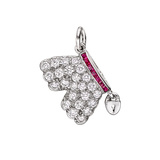 Diamond & Ruby 'Bloomers' Charm