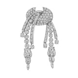 Vintage Diamond Articulated Swag Brooch (~7.3 ct tw)
