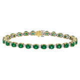 Emerald & Diamond Line Bracelet