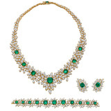 Emerald & Diamond Jewelry Suite