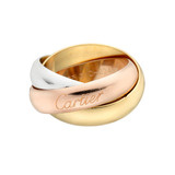 Large 18k Tri-Colored Gold 'Trinity' Ring