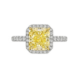 2.18 Carat Fancy Intense Yellow Diamond Ring