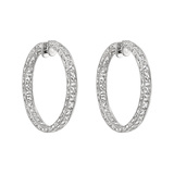 French-Cut Diamond Hoop Earrings (~7.2 ct tw)