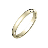 18k Yellow Gold Comfort Fit Wedding Band (3mm)
