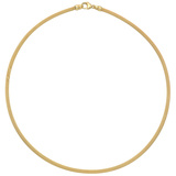 18k Yellow Gold Double Knit Collar Necklace