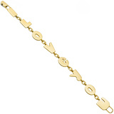 "14k Yellow Gold ""I LOVE YOU"" Link Bracelet"