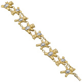 18k Gold Teddy Bear Link Bracelet