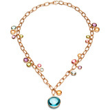 "18k Gold & Multicolored Gemstone ""Mischief"" Necklace"