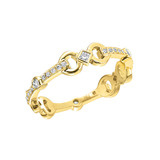 "18k Yellow Gold & Diamond ""Gallop"" Ring"