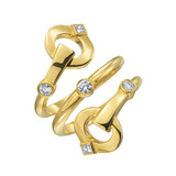 "18k Gold & Diamond ""Gallop"" Wrap Ring"