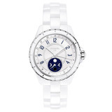 J12 Moonphase White Ceramic (H3404)