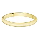 Hinged 14k Yellow Gold Bangle