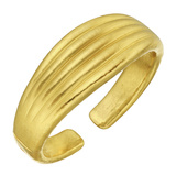 18k Yellow Gold Fluted Cuff Bracelet