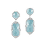 "Aquamarine ""Patras"" Double-Drop Earrings"