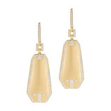 "18k Yellow Gold & Diamond ""Metropolis"" Drop Earrings"