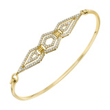 "18k Yellow Gold & Diamond ""Montmarte"" Bangle"