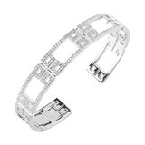 "18k White Gold & Diamond ""Patras"" Cuff"