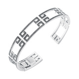"18k White Gold & Black Diamond ""Patras"" Cuff Bracelet"