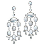 "Rock Crystal & Diamond ""Bubble"" Drop Earrings"