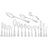 "Silver ""English King"" Flatware Set"
