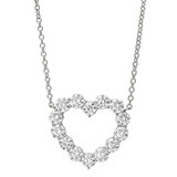 Large Diamond Heart Pendant