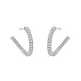 Small Pavé Diamond Creole Hoop Earrings