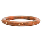 Sienna Orange-Brown Bakelite & Yellow Sapphire Bangle
