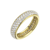 Pavé Diamond Bombé Eternity Band (~1.33 ct tw)