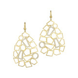 "18k Gold & Diamond ""Jackson"" Drop Earrings"