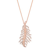 "18k Rose Gold & Diamond ""Phoenix"" Pendant"
