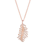 "Small 18k Rose Gold & Diamond ""Phoenix"" Pendant"
