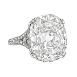 16.18 Carat Cushion Brilliant-Cut Diamond Ring