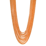 15-Strand Orange Sapphire Bead Necklace