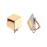 "18k Rose Gold & Diamond ""Brillante"" Earclips"