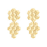 "Medium 18k Yellow Gold ""Brillante"" Drop Earrings"
