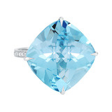 "Blue Topaz ""By the Pool"" Cocktail Ring"