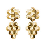 "Large 18k Yellow Gold ""Brillante"" Drop Earrings"