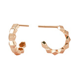 "Mini 18k Rose Gold ""Brillante"" Hoop Earrings"