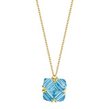 18k Yellow Gold & Blue Topaz Pendant