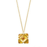 18k Yellow Gold & Citrine Pendant