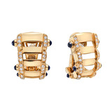 "18k Rose Gold & Gem-Set ""Twenty-4"" Hoop Earrings"